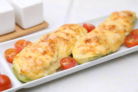 calabacines rellenos de queso